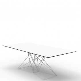 FAZ - table 200 x 100 cm piètement inox