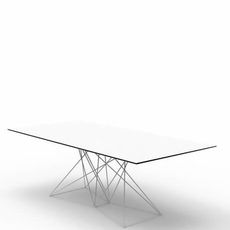 FAZ - table 200 x 100 cm piètement inox