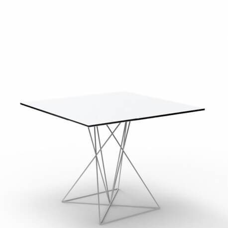 FAZ - table 70 x 70 cm piètement inox