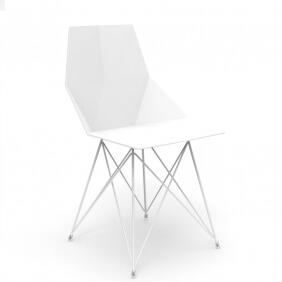 FAZ - chaise polypropylène et inox (lot de 4)