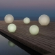 VASES - lampe de jardin ronde LED