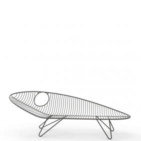 WIRE - chaise longue 2m