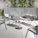 WIRE - fauteuil lounge en aluminium laqué noir