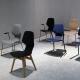 OBLIKANT - chaise en chêne et métal