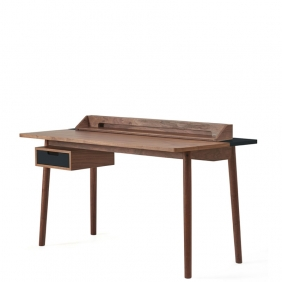 HONORE - bureau noyer du to70 x 140 cm