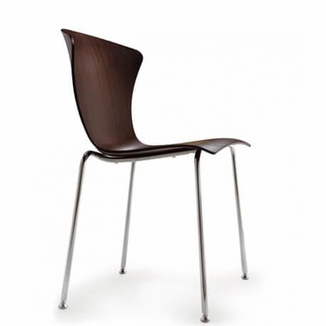 GLOSSY 3D WOOD - chaise en chêne (lot de 2)