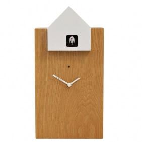 ETTORE - grande horloge chêne / toit blanc