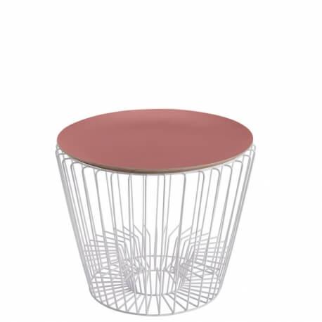 ERNEST - table d'appoint blanche ø49 cm