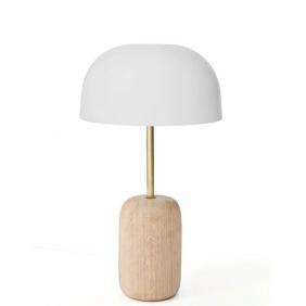 NINA - lampe de table métal et chêne H41 cm