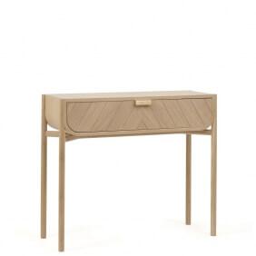 MARIUS - console à tiroir en chêne H90 cm