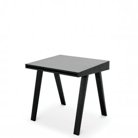 DESK 4.9 - bureau 80 x 70 cm frêne teinté noir