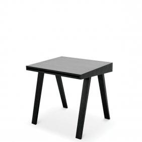 DESK 4.9 - bureau 80 x 70 cm frêne teint noir