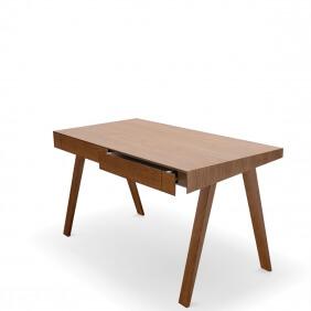 DESK 4.9 - bureau 140 x 70 cm frêne teinté brun foncé