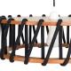 MACARON - suspension bois et corde ø 45 cm