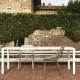 EASY - table en aluminium blanc 220 x 100 cm