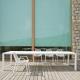 EASY - table en aluminium blanc 300 x 100 cm