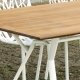 RADICE QUADRA - table de jardin en teck 200 x 90 cm