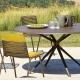 MOAI - table ronde en aluminium diam. 146 cm