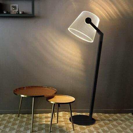 ZIGGI - lampadaire noir led