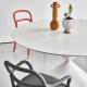 CLESSIDRA - table ø 150 cm chêne laqué blanc