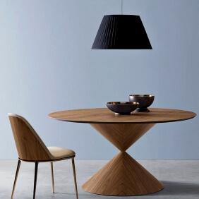 CLESSIDRA - table ø 150 cm chêne foncé