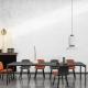 ARMANDO - table en acier laqué 280 x 100 cm