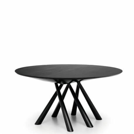 FOREST - table ronde en chêne laqué noir ø 150 cm