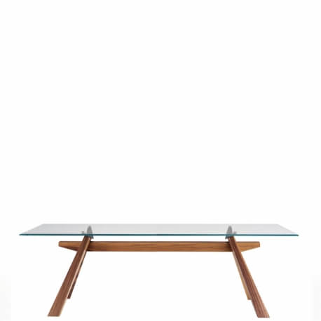 ZEUS - table et et verre transparent 250 x 106 cm