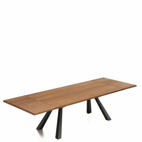 ZEUS - table extensible en noyer de 2m à 3m