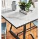 ALFRED - table extensible 2 à 3m céramique effet marbre calcatta