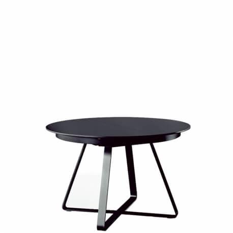 PAUL table ronde extensible 1m20 à 1m80 chêne noir