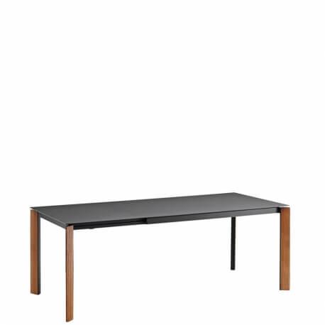 BLADE - table extensible noyer et plateau en Fenix 1m40 à 2m