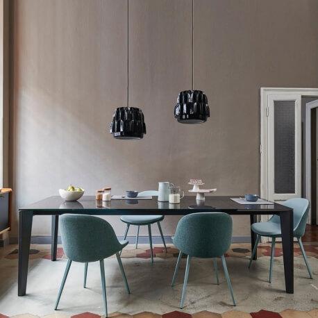 DIAMANTE - table extensible en métal et céramique 1m90 à 2m90