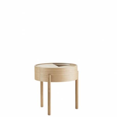 ARC - table basse plateau rotatif ø 42 cm