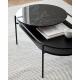 VERDE - table basse en marbre et chêne 1m06