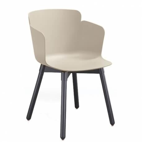 CALLA P L_C PP - fauteuil bois et polypropylène