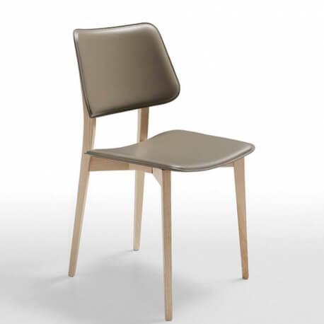 JOE SL CU - chaise en chêne et cuir