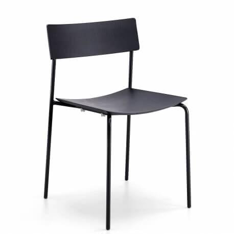 MITP - chaise en chêne et métal noir