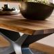 NEXUS - table plateau noyer coupe organique 250 x106 cm