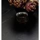 PECHINO - table plateau bois laqué noir 200 x106 cm