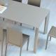 GHEDI - table extensible en mdf 1m40 à 2m90