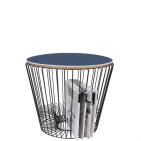 ERNEST - table d'appoint noire ø49 cm