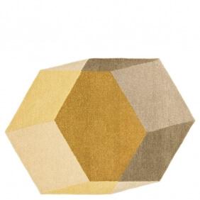 ISO - tapis en laine hexagonal 142 x 200 cm