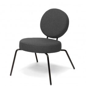 OPTION - fauteuil lounge assise et dossier ronds