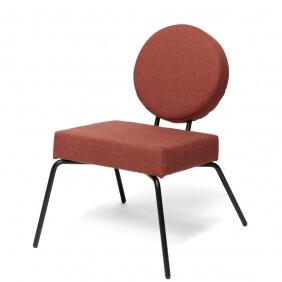 OPTION - fauteuil assise carrée et dossier rond