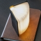 MINI SMART BOOKLIGHT - lampe sans fil cuir noir 12.5 cm