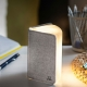 MINI SMART BOOKLIGHT - lampe cuir lin gris 12.5 cm