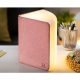 MINI SMART BOOKLIGHT - lampe cuir lin gris 12.5 cm