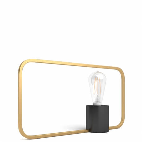 VENUS LOW - lampe de table en laiton H 23 cm