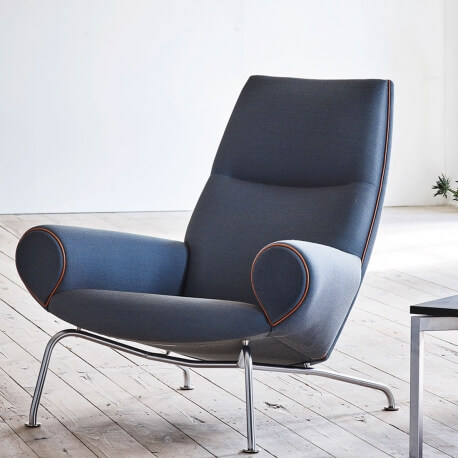 QUEEN EJ 101 - fauteuil tissu Steelcut Trio